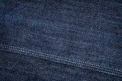 Dark Blue Jeans Texture Stock Photo