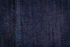 Dark Blue Jeans Texture Stock Photography