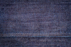 Dark Blue Jeans Texture Royalty Free Stock Photo