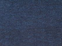 Dark blue knitted cotton fabric royalty free stock images