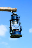 Dark Blue lantern on the sky Stock Photos