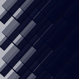 Dark Blue Layered Pattern from Square Intersections Stock Image