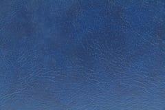 Dark blue leather texture background Stock Photo