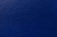 Dark blue leather texture print as background Royalty Free Stock Photos