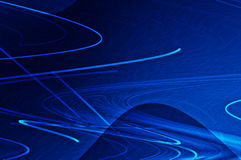 Dark Blue Lighted Lines Royalty Free Stock Images