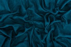 Dark blue linen texture. Close up view of dark blue linen fabric texture Stock Photography