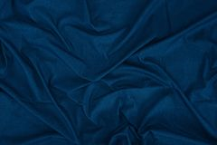 Dark blue linen texture. Close up view of dark blue linen fabric texture Stock Photos