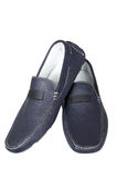Dark blue low shoes Royalty Free Stock Photo