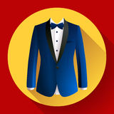 Dark blue man suit Vector icon. Dark blue man suit Vector flat icon Royalty Free Stock Image