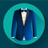 Dark blue man suit Vector icon. Dark blue man suit Vector flat icon Stock Photo