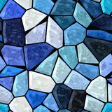Dark blue marble irregular plastic stony mosaic seamless pattern texture background Stock Image