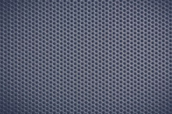 Dark blue Metal Background with Holes. Metal Grid. Royalty Free Stock Photo