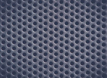 Dark blue Metal Background with Holes. Metal Grid. Royalty Free Stock Image