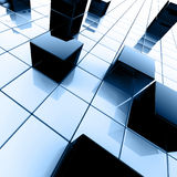 Dark blue metallic cubes Royalty Free Stock Photos