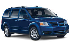 Dark Blue Minivan Royalty Free Stock Photo