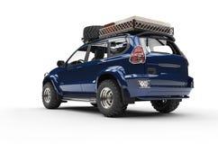 Dark Blue Modern SUV Stock Images