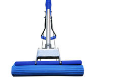 Dark blue mop. For washing floors on a white background Stock Image