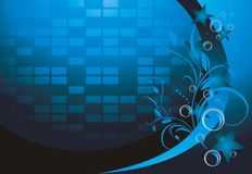 Dark blue mosaic background with ornament Royalty Free Stock Images
