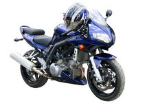 Dark blue motorcycle. Royalty Free Stock Photo