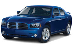 Dark Blue Muscle Car Royalty Free Stock Photos