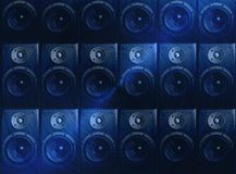 Dark blue music speaker abstract wallpaper Stock Image