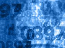 Dark blue numbers background texture Royalty Free Stock Photo