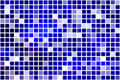 Dark blue occasional opacity mosaic over white Royalty Free Stock Photos