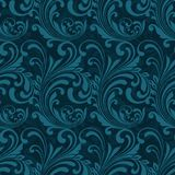 Dark blue ornamental seamless Royalty Free Stock Images