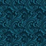 Dark blue ornamental seamless Royalty Free Stock Images