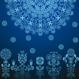 Dark blue pattern Stock Images