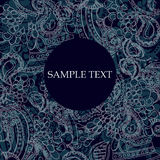 Dark blue pattern. Vector color dark blue  pattern with text frame Royalty Free Stock Image