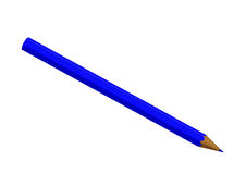 Dark blue pencil Royalty Free Stock Images