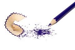 Dark blue pencil Stock Photography