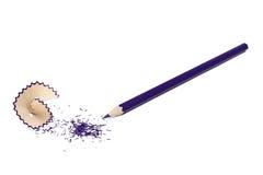 Dark blue pencil Stock Images