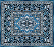 Dark blue persian carpet Royalty Free Stock Images