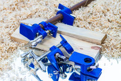 Dark blue pipe clamp Stock Images