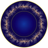 Dark blue plate Royalty Free Stock Image