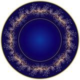 Dark blue plate Royalty Free Stock Image