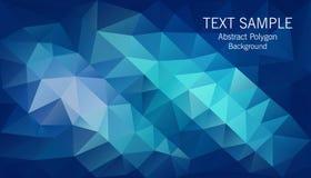 Dark blue polygon. Background,polygon art Royalty Free Stock Image