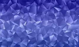 Dark blue polygon background with triangles of different shape and size Geometric pattern, backdrop. Typographic design for design layouts, posters, calendars Royalty Free Stock Images