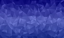 Dark blue polygon background with triangles of different shape and size Geometric pattern, backdrop. Typographic design for design layouts, posters, calendars Royalty Free Stock Image