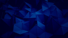 Dark blue polygonal surface 3D rendering background. Dark blue polygonal surface. Abstract 3D rendering background Stock Photo