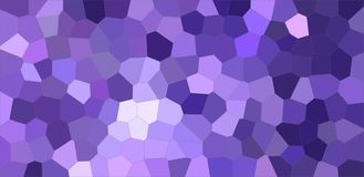 Dark blue and purple colorful Middle size hexagon background illustration. stock illustration