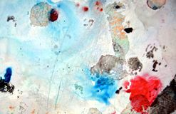 Dark blue red painting watercolor background, painting abstract colors stock images