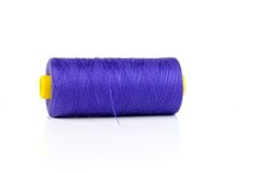 Dark blue sewing thread Stock Image