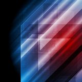 Dark blue red tech vector background Royalty Free Stock Images
