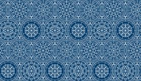Dark blue repeatable motif for holiday wrapping paper Stock Photos