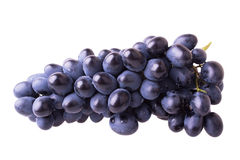 Dark blue ripe grapes Stock Photo