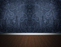 The Dark Blue Room Royalty Free Stock Photography