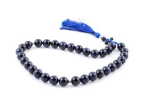 Dark Blue Rosary Beads, from gem Stock Photo